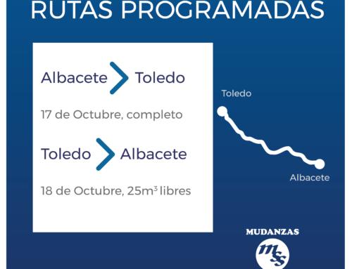 Rutas de transporte programadas: Albacete  Toledo