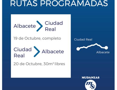 Rutas de transporte programadas: Albacete  Ciudad Real