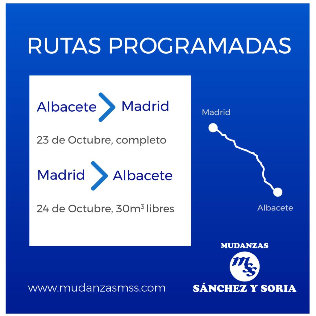 rutas programadas 23 y 24 oct