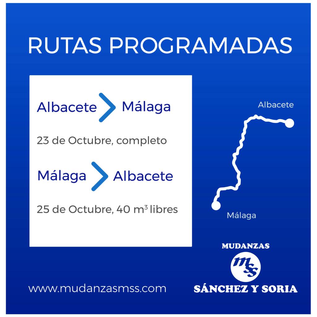 rutas programadas 23 y 25 octubre